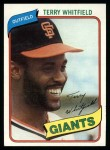 1980 Topps #713  Terry Whitfield  Front Thumbnail