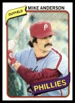 1980 Topps #317  Mike Anderson    Front Thumbnail