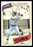 1980 Topps #135  Bill Buckner  Front Thumbnail