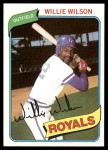 1980 Topps #157  Willie Wilson    Front Thumbnail