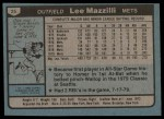 1980 Topps #25  Lee Mazzilli  Back Thumbnail