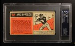 1965 Topps #122  Joe Namath  Back Thumbnail