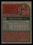 1975 Topps Mini #52  Darrell Porter  Back Thumbnail