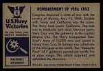 1954 Bowman U.S. Navy Victories #4   Bombardment of Vera Cruz Back Thumbnail