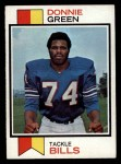 1973 Topps #258  Donnie Green  Front Thumbnail