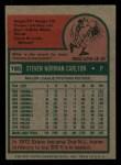 1975 Topps Mini #185  Steve Carlton  Back Thumbnail