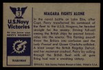 1954 Bowman U.S. Navy Victories #3   Niagara Fights Alone Back Thumbnail