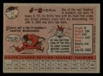 1958 Topps #11 WT Jim Rivera  Back Thumbnail