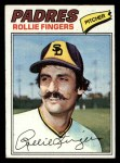1977 Topps #523  Rollie Fingers  Front Thumbnail