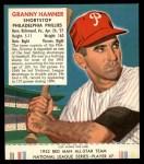 1952 Red Man #7 NL Granny Hamner  Front Thumbnail