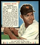 1952 Red Man #9 NL Monte Irvin  Front Thumbnail