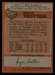 1978 Topps #10  Bryan Trottier  Back Thumbnail