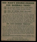 1952 Red Man #10 NL Larry Jansen  Back Thumbnail