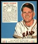 1952 Red Man #13 NL Whitey Lockman  Front Thumbnail