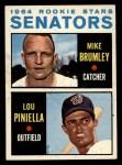 1964 Topps #167   -  Lou Piniella / Mike Brumley Senators Rookies Front Thumbnail