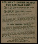 1952 Red Man #4 AL Gil Coan  Back Thumbnail