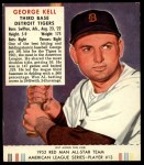 1952 Red Man #13 AL George Kell  Front Thumbnail
