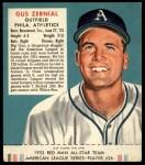 1952 Red Man #26 AL Gus Zernial  Front Thumbnail