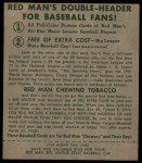 1952 Red Man #17 NL Pee Wee Reese  Back Thumbnail