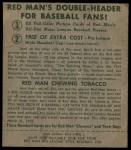 1952 Red Man #18 AL Eddie Robinson  Back Thumbnail