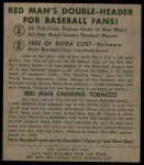 1952 Red Man #25 AL Eddie Yost  Back Thumbnail