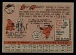 1958 Topps #143  Billy Muffett  Back Thumbnail