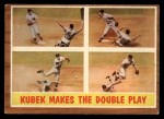 1962 Topps #311   -  Tony Kubek  Kubek Makes the Double Play Front Thumbnail