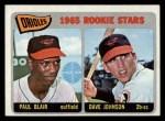 1965 Topps #473   -  Paul Blair / Davey Johnson Orioles Rookies Front Thumbnail