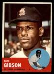 1963 Topps #415  Bob Gibson  Front Thumbnail