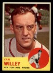 1963 Topps #528  Carl Willey  Front Thumbnail