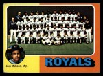 1975 Topps Mini #72   -  Jack McKeon Royals Team Checklist Front Thumbnail