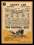 1967 Topps #46  Jacky Lee  Back Thumbnail