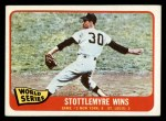 1965 Topps #133   -  Mel Stottlemyre 1964 World Series - Game #2 - Stottlemyre Wins Front Thumbnail
