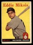 1958 Topps #121  Eddie Miksis  Front Thumbnail