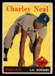 1958 Topps #16  Charlie Neal  Front Thumbnail