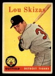 1958 Topps #319  Lou Skizas  Front Thumbnail