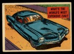 1957 Topps Isolation Booth #29   World's Most Expensive Car Front Thumbnail