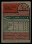 1975 Topps Mini #229  Barry Foote  Back Thumbnail