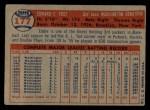 1957 Topps #177  Eddie Yost  Back Thumbnail