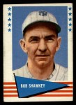 1961 Fleer #139  Bob Shawkey  Front Thumbnail