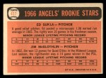 1966 Topps #417   -  Jim McGlothlin / Ed Sukla Angels Rookies Back Thumbnail