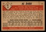 1953 Bowman #19  Al Dark  Back Thumbnail