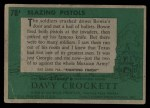 1956 Topps Davy Crockett #78 GRN  Blazing Pistols  Back Thumbnail