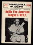 1961 Nu-Card Scoops #472   -  Nelson 'Nellie' Fox Nellie Fox American League MVP Front Thumbnail