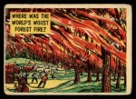1957 Topps Isolation Booth #41   World's Worst Forest Fire Front Thumbnail