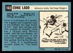1964 Topps #163  Ernie Ladd  Back Thumbnail