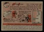 1958 Topps #352  Herb Score  Back Thumbnail