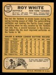 1968 Topps #546  Roy White  Back Thumbnail