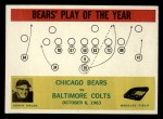 1964 Philadelphia #28   -  George Halas Chicago Bears Front Thumbnail