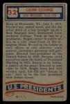 1956 Topps U.S. Presidents #32  Calvin Coolidge  Back Thumbnail
